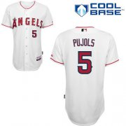 Wholesale Cheap Angels of Anaheim #5 Albert Pujols White Cool Base Stitched MLB Jersey