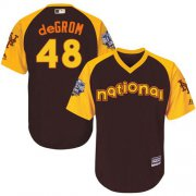 Wholesale Cheap Mets #48 Jacob DeGrom Brown 2016 All-Star National League Stitched Youth MLB Jersey
