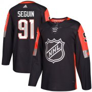 Wholesale Cheap Adidas Stars #91 Tyler Seguin Black 2018 All-Star Central Division Authentic Youth Stitched NHL Jersey