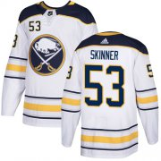 Wholesale Cheap Adidas Sabres #53 Jeff Skinner White Road Authentic Youth Stitched NHL Jersey