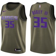 Wholesale Cheap Nike Sacramento Kings #35 Marvin Bagley III Green NBA Swingman Salute to Service Jersey