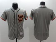 Wholesale Cheap Giants Blank Grey Flexbase Authentic Collection Road 2 Stitched MLB Jersey