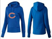 Wholesale Cheap Women's Chicago Bears Logo Pullover Hoodie Blue
