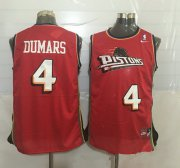 Wholesale Cheap Men's Detroit Pistons #4 Joe Dumars Red Hardwood Classics Soul Swingman Throwback Jersey