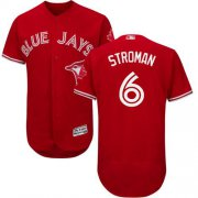 Wholesale Cheap Blue Jays #6 Marcus Stroman Red Flexbase Authentic Collection Canada Day Stitched MLB Jersey