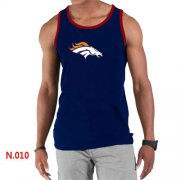 Wholesale Cheap Men's Nike NFL Denver Broncos Sideline Legend Authentic Logo Tank Top Dark Blue