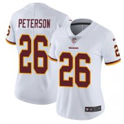 Wholesale Cheap Nike Redskins #26 Adrian Peterson White Women's Stitched NFL Vapor Untouchable Limited Jersey