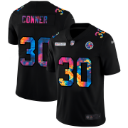 Cheap Pittsburgh Steelers #30 James Conner Men's Nike Multi-Color Black 2020 NFL Crucial Catch Vapor Untouchable Limited Jersey