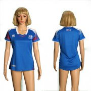 Wholesale Cheap Women's Iceland Blank Home Soccer Country Jersey
