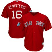 Wholesale Cheap Red Sox #16 Andrew Benintendi Red 2018 Spring Training Cool Base Stitched MLB Jersey