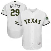 Wholesale Cheap Rangers #29 Adrian Beltre White Flexbase Authentic Collection Memorial Day Stitched MLB Jersey