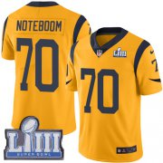 Wholesale Cheap Nike Rams #70 Joseph Noteboom Gold Super Bowl LIII Bound Men's Stitched NFL Limited Rush Jersey
