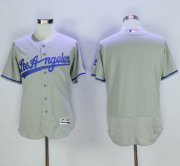 Wholesale Cheap Dodgers Blank Grey Flexbase Authentic Collection Road Stitched MLB Jersey