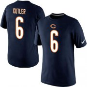 Wholesale Cheap Nike Chicago Bears #6 Jay Culter Pride Name & Number NFL T-Shirt Navy Blue