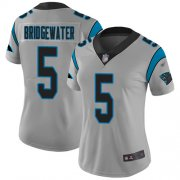 Wholesale Cheap Nike Panthers #5 Teddy Bridgewater Silver Women's Stitched NFL Limited Inverted Legend Jersey