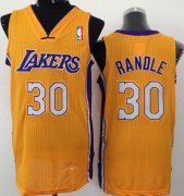 Wholesale Cheap Los Angeles Lakers #30 Julius Randle Yellow Swingman Jersey