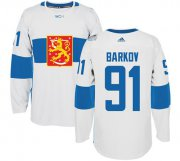 Wholesale Cheap Team Finland #91 Aleksander Barkov White 2016 World Cup Stitched NHL Jersey