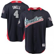 Wholesale Cheap Rays #4 Blake Snell Navy Blue 2018 All-Star American League Stitched MLB Jersey
