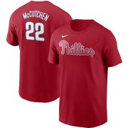 Wholesale Cheap Philadelphia Phillies #22 Andrew McCutchen Nike Name & Number T-Shirt Red