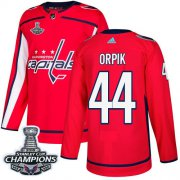 Wholesale Cheap Adidas Capitals #44 Brooks Orpik Red Home Authentic Stanley Cup Final Champions Stitched Youth NHL Jersey