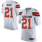 Wholesale Cheap Nike Browns #21 Denzel Ward White Men's Stitched NFL Elite Jersey