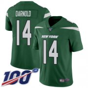 Wholesale Cheap Nike Jets #14 Sam Darnold Green Team Color Youth Stitched NFL 100th Season Vapor Limited Jersey