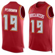 Wholesale Cheap Nike Buccaneers #19 Breshad Perriman Red Team Color Men's Stitched NFL Limited Tank Top Jersey