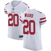 Wholesale Cheap Nike 49ers #20 Jimmie Ward White Men's Stitched NFL Vapor Untouchable Elite Jersey
