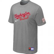 Wholesale Cheap MLB Washington Nationals Light Grey Nike Short Sleeve Practice T-Shirt