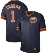Wholesale Cheap Nike Astros #1 Carlos Correa Navy Authentic Cooperstown Collection Stitched MLB Jersey