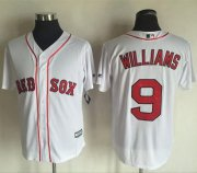 Wholesale Cheap Red Sox #9 Ted Williams White New Cool Base Stitched MLB Jersey