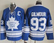 Wholesale Cheap Maple Leafs #93 Doug Gilmour Blue CCM Throwback Third Stitched NHL Jersey