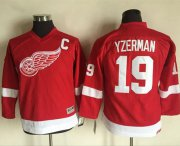 Wholesale Cheap Red Wings #19 Steve Yzerman Red CCM Throwback Stitched Youth NHL Jersey