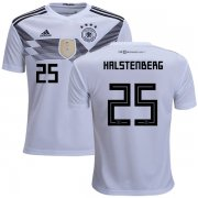 Wholesale Cheap Germany #25 Halstenberg White Home Kid Soccer Country Jersey
