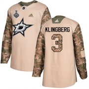 Cheap Adidas Stars #3 John Klingberg Camo Authentic 2017 Veterans Day Youth 2020 Stanley Cup Final Stitched NHL Jersey