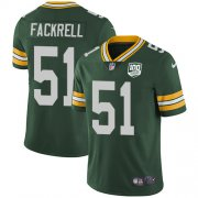 Wholesale Cheap Nike Packers #51 Kyler Fackrell Green Team Color Men's 100th Season Stitched NFL Vapor Untouchable Limited Jersey