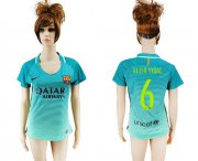 Wholesale Cheap Women's Barcelona #6 Aleix Vidal Sec Away Soccer Club Jersey