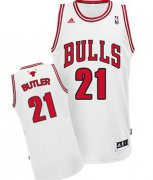 Wholesale Cheap Chicago Bulls #21 Jimmy Butler White Swingman Jersey