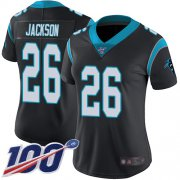 Wholesale Cheap Nike Panthers #26 Donte Jackson Black Team Color Women's Stitched NFL 100th Season Vapor Limited Jersey
