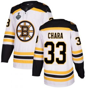 Wholesale Cheap Adidas Bruins #33 Zdeno Chara White Road Authentic Stanley Cup Final Bound Stitched NHL Jersey
