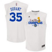Wholesale Cheap Men's Golden State Warriors #35 Kevin Durant White 2017 The Finals Championship Stitched NBA adidas Swingman Jersey