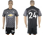 Wholesale Cheap Manchester United #24 Fosu-Mensah Black Soccer Club Jersey