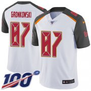 Wholesale Cheap Nike Buccaneers #87 Rob Gronkowski White Men's Stitched NFL 100th Season Vapor Untouchable Limited Jersey