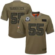 Wholesale Cheap Youth Dallas Cowboys #55 Leighton Vander Esch Nike Camo 2019 Salute to Service Game Jersey