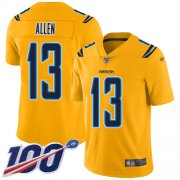Wholesale Cheap Nike Chargers #13 Keenan Allen Gold Men's Stitched NFL Limited Inverted Legend 100th Season Jersey