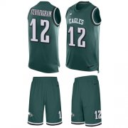 Wholesale Cheap Nike Eagles #12 Randall Cunningham Midnight Green Team Color Men's Stitched NFL Limited Tank Top Suit Jersey