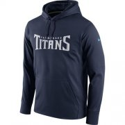 Wholesale Cheap Men's Tennessee Titans Nike Navy Circuit Wordmark Essential Performance Pullover Hoodie