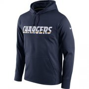 Wholesale Cheap Men's Los Angeles Chargers Nike Navy Circuit Wordmark Essential Performance Pullover Hoodie