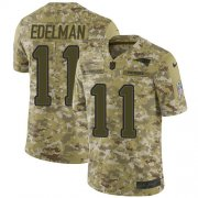Wholesale Cheap Nike Patriots #11 Julian Edelman Camo Men's Stitched NFL Limited 2018 Salute To Service Jersey