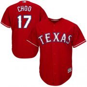 Wholesale Cheap Rangers #17 Shin-Soo Choo Red Cool Base Stitched Youth MLB Jersey